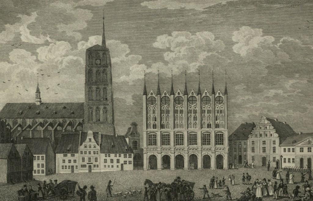 Der Marktplatz in Stralsund.