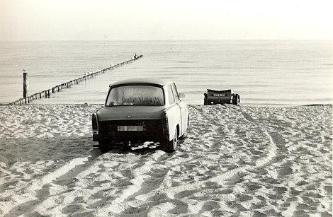 Trabi am Strand