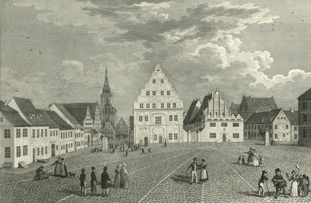 Marktplatz in Greifswald.