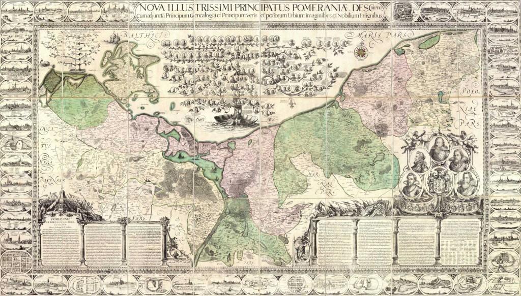 Lubinsche Karte von Pommern