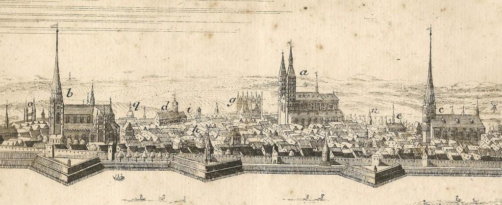 Ansicht der Stadt Stralsund von Süden, Sammlung Gabriele Poggendorf