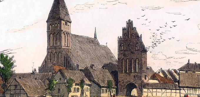 Grimmen an der Trebel / Gustav Schönleber / 1881 / kolorierter