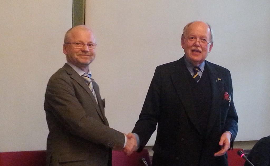 Der alte und der neue Vorsitzende (rechts Dr. Ludwig Biewer, links Dr. Wilfried Hornburg)