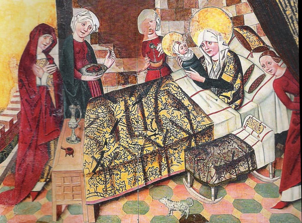 Geburt Marias, Hochaltar St. Nikolai Stralsund um 1470 (Foto: Gunnar Möller)