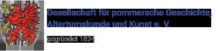 Gesellschaft für pommersche Geschichte, Altertumskunde und Kunst e. V. Logo